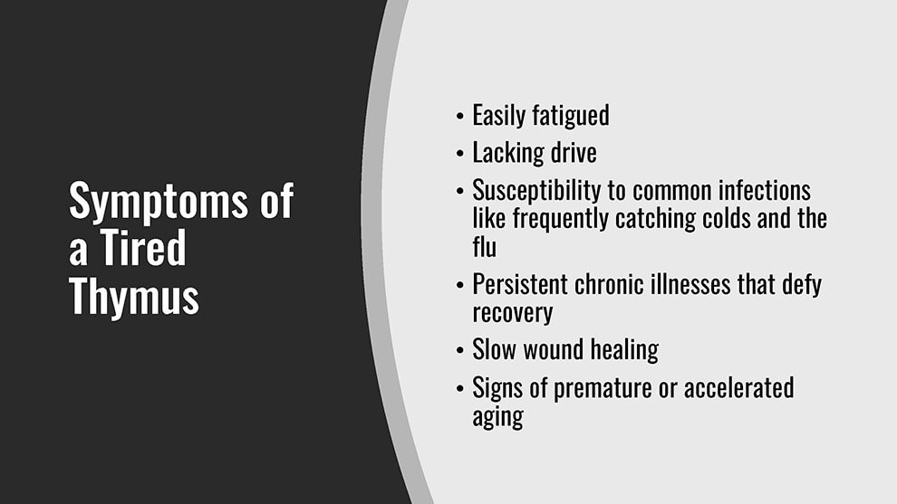 Symptoms of a Tired Thymus